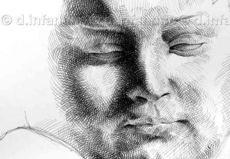 Studio di una scultura di Michelangelo 2